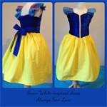 Girls Snow White princess dress costume ruffle sleeve size 6
