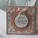 Vintage Inspired Mother's Day Mini Card ~ Happy Mother's Day ~ Ready to Post