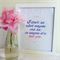 Beautiful hand-drawn romantic quote, framed