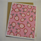 Pink Flowers - Blank Greeting Card & Envelope