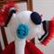 Eggbert the elephant: crochet, washable, OOAK, present, easter, baby shower