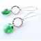 Marielle emerald green and Sterling Silver earrings