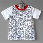 Tshirt. Organic cotton tshirt. Tee for boy or man. Hand painted.