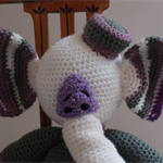 Elinor the elephant: crochet, washable, OOAK, present, safe, baby shower