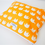 Ex-Large Zippered Wet Bag Pouch Nappy Wallet - Orange Elephant