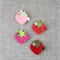 strawberry hair clip, 4 to choose from, pink, red, berry
