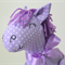 Purple Polka Dot Pony Softie - Year of the horse toy