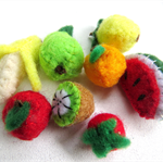Miniature Felt Fruit - tiny felt food inside a matchbox