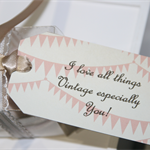 I love all things Vintage especially you! Gift Tag ~ Vintage Inspired Tag