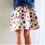 Toddler Skirt - Autumn trees, organic cotton