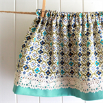 Sweet Nostalgia - toddler skirt, cotton linen, blue floral