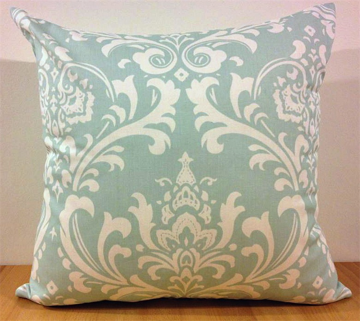 Duck Egg Damask Cushion Cooshonz