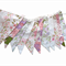 Vintage Bunting - Pink Floral & Doily Lace, Flags. Bedroom, High Tea Decor