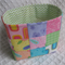 Patchwork Basket - Floral - Bright