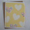 Yellow Spot Hearts - A2 Blank Greeting Card & Envelope