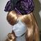 Regal Status.SALE ON Royal purple Satin Felt Fascinator millinery races wedding