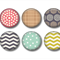 Magnets - set of 6  fridge magnets. Chevrons and dots.