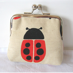 Ladybird coin purse