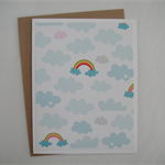 Chasing Rainbows - Blank Greeting Card & Envelope