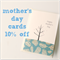 mother's day card birds & tree feathers