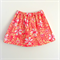 Size 3-6 Light Yellow Skirt with Pink and White Print