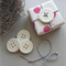 clay tags - mud buttons (set of 4)