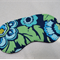 Eye Mask / Sleeping Mask Clearance green and blue retro flowers Amy Butler