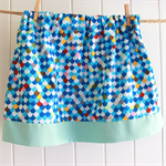 Toddler Skirt - blue, elastic waist