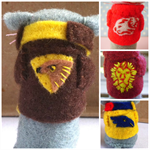 Felt Football Mouse - Any Team Sport Mascot - Custom Miniature softie toy