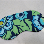 Eye Mask / Sleeping Mask green and blue retro flowers Amy Butler