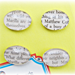 Anne of Green Gables Fridge Magnet Set of Four Glass Cabochon Literature Marilla