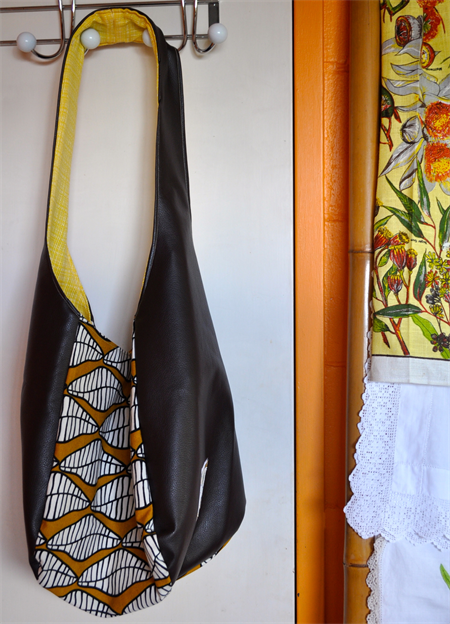 SOLD - African Inspired Large Hobo Bag - SOLD