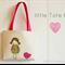 Tote bag | little girls | applique |  child's bag | Birdie