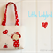 Tote bag | little girls | applique |  child's bag | ladybird