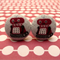 Red robot cufflinks