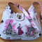 French Pink Design Ladies Hobo Handbag Purse