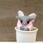 Felt Mouse with Wings Miniature - Angel Mouse - Fairy