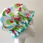 Handmade Laminated Designer Cotton Shower Cap - PVC FREE. Eco -Friendly