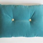 Velvet Buttoned Cushion