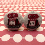 Red robot cufflinks