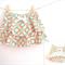 Size18m or 3 / Circle stripe Skort - Orange x Mint