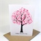 Happy Mothers Day Card - Pink Cherry Mum's Blossom Tree - HMD006 Handmade
