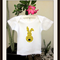 MaisyMoo Designs 'Bunny Polka Dot Yellow' top. Sizes Newborn to 2 yrs