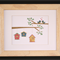 Birdhouses Framed Wall Art Handcrafted From Paper