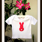 MaisyMoo Designs 'Bunny Star' top. Sizes Newborn to 2 yrs