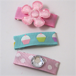 3pk mixed baby snap hair clips
