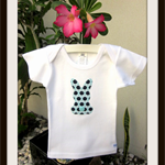 MaisyMoo Designs 'Bunny Blue' top. Sizes Newborn to 2 yrs