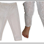CLEARANCE... Girls Stretch Lace Leggings (SIZE 1-4)