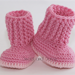 Crocheted Baby Snuggly Snuggs Booties. Size 3-6 months