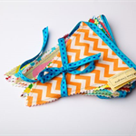 Beautiful Bunting - 12 Carnival flags - spots, stripes and geometric patterns30